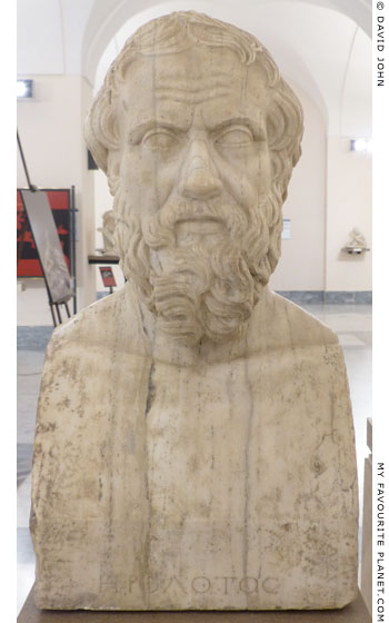 Marble herm of Herodotus from Tivoli at My Favourite Planet