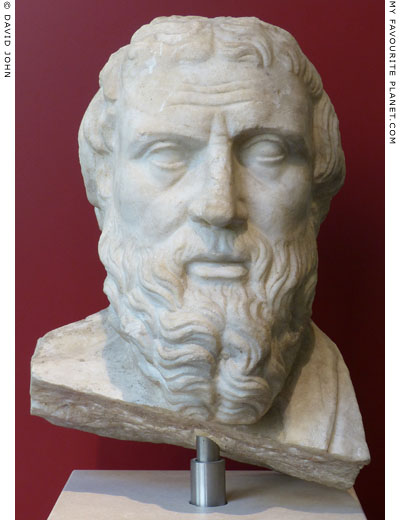 Head of a marble herm of Herodotus from Rome at My Favourite Planet