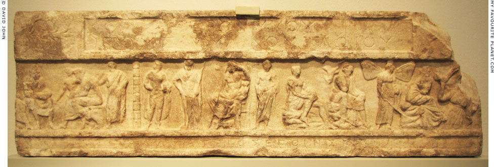 Marble relief frieze from the funerary monument for Hieronymus of Tlos in the Altes Museum, Berlin at My Favourite Planet