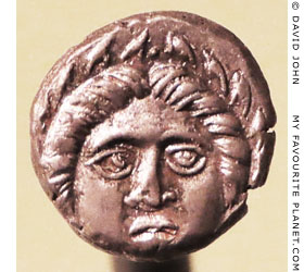The head of Apollo on a diobol coin from Apollonia Pontica at My Favourite Planet