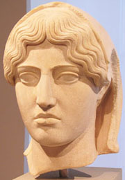Bust of Aspasia of Miletus, consort of Pericles at My Favourite Planet