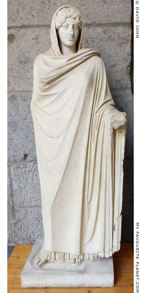 Statue of the so-called Aphrodite Sosandra in Naples at My Favourite Planet