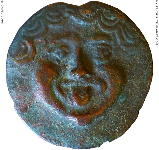 The Gorgoneion on a large bronze as from Olbia at My Favourite Planet