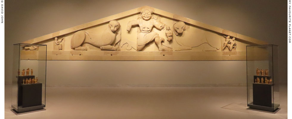 The reconstructed Gorgon pediment from the west facade of the Temple of Artemis, Corfu at My Favourite Planet
