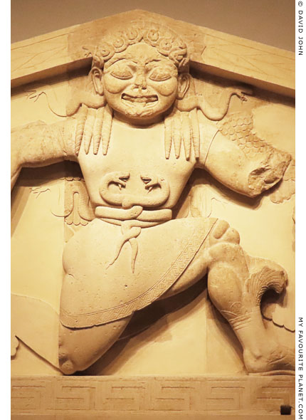 The Gorgon on the Gorgon pediment in Corfu at My Favourite Planet