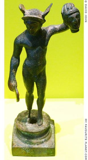 Etruscan bronze statuette of Perseus holding the head of Medusa at My Favourite Planet