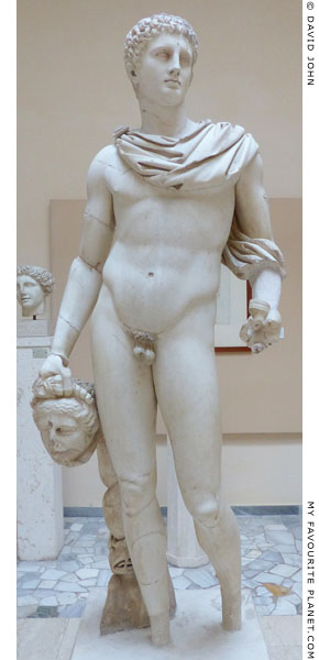 Marble statue of Perseus holding the head of Medusa, Ostia at My Favourite Planet