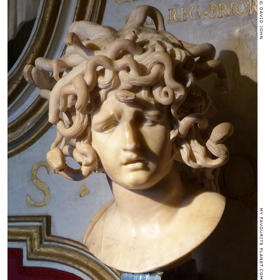 Marble bust of Medusa by Gian Lorenzo Bernini at My Favourite Planet