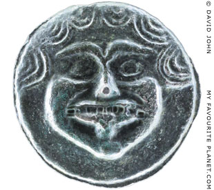 The Gorgon head on a coin from Pontic Olbia at My Favourite Planet