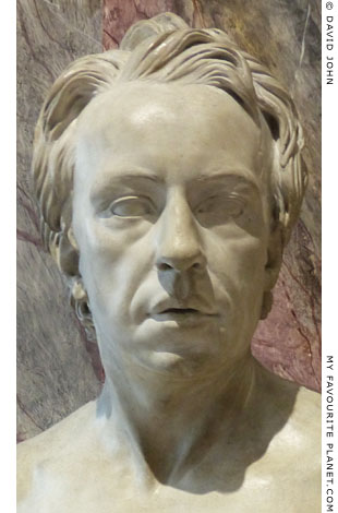 Bust of Anton Raphael Mengs in Dresden at My Favourite Planet