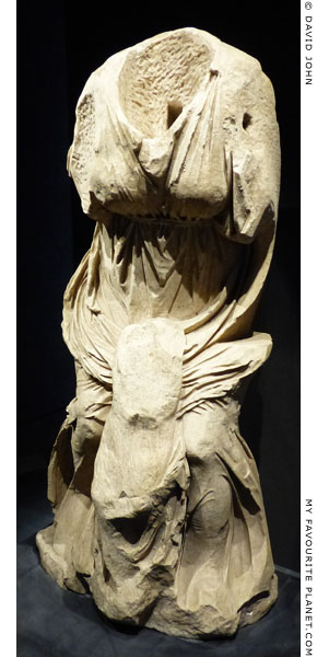 Marble statue of Niobe from the Villa dei Quintili on the Via Appia, Rome at My Favourite Planet