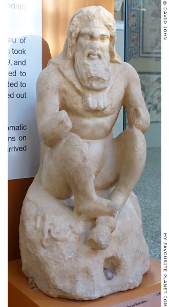 Marble statuette of Pan from Corinth, Greece at My Favourite Planet