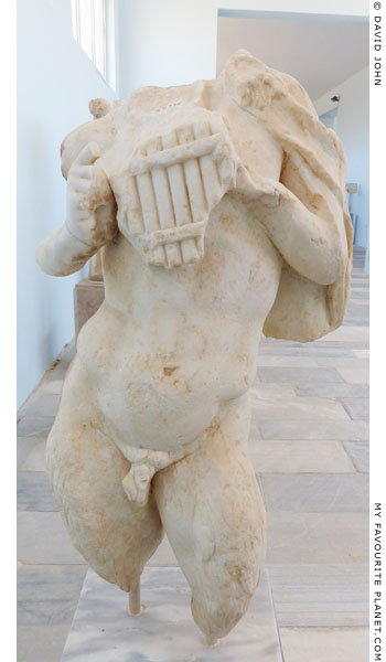 Statue of Pan holding a syrinx, from Delos at My Favourite Planet