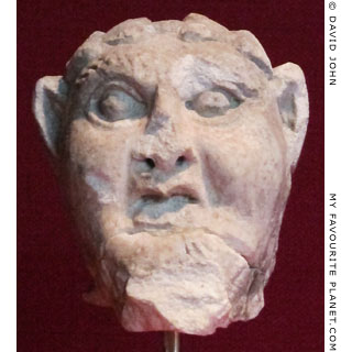 A marble head of Pan from Smyrna at My Favourite Planet