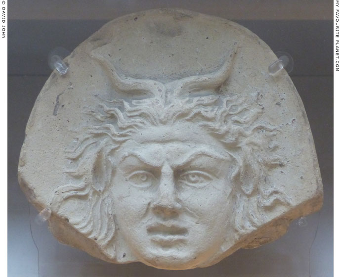 The head of Pan as an antefix from Taranto at My Favourite Planet