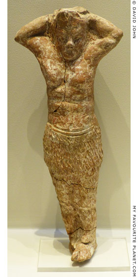 Terracotta figurine of Pan from Pella, Macedonia at My Favourite Planet