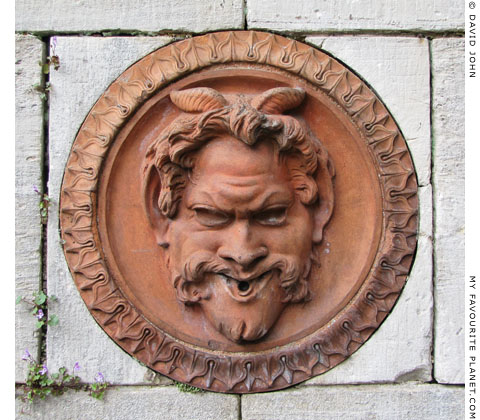Terracotta plaque with the head of Pan, Sanssouci, Potsdam at My Favourite Planet