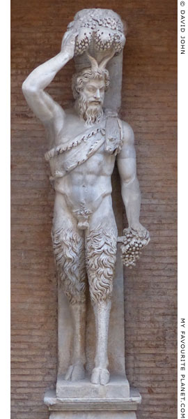 One of the two Della Valle Satyr statues of Pan at My Favourite Planet