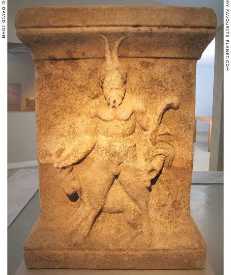 Altar with a relief of Pan from Thasos at My Favourite Planet