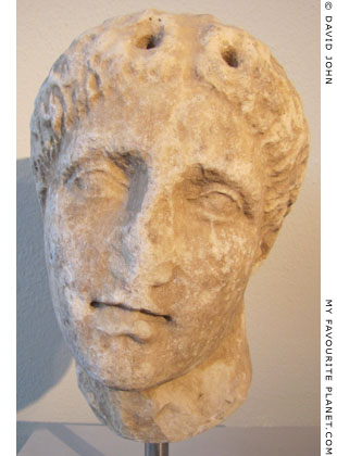 Head of a statue of Pan from Thasos at My Favourite Planet