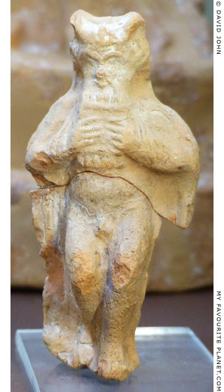 Terracotta figurine of Pan from the Cave of the Leibethrid Nymphs, Boeotia, Greece at My Favourite Planet