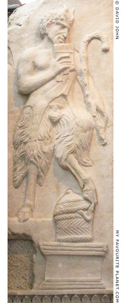 Relief of Pan on the Little Arch of Galerius, Thessaloniki at My Favourite Planet