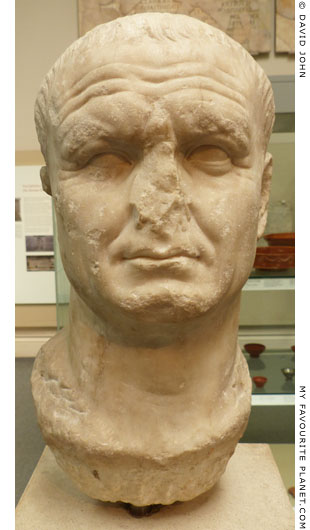 Marble head of Emperor Vespasian at My Favourite Planet