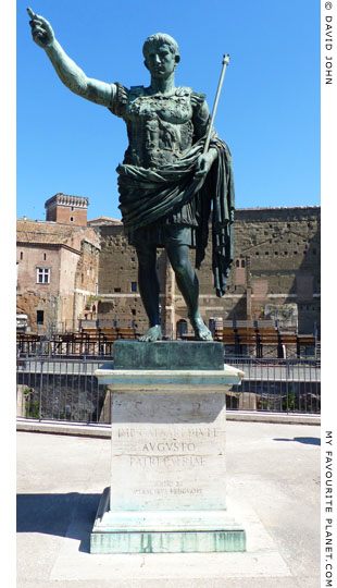 Bronze statue of Emperor Augustus in the Forum, Rome at My Favourite Planet